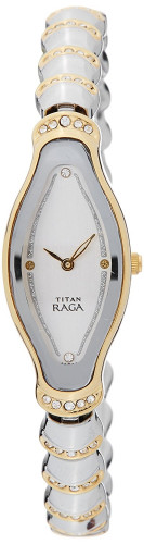 ?Titan Analog Silver Dial Women's Watch