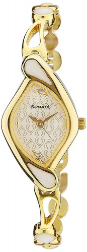 Sonata Sona Sitara Analog White Dial Women's Watch