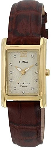 Timex Analog Champagne Dial Women's Watch