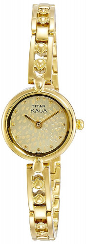 Titan Analog Champagne Dial Women's Watch