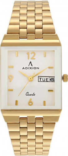 ADIXION 1918YM02 Day And Date 18 K Gold Pleating Igp Watch