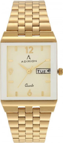 ADIXION 1918YM11A Day And Date 18 K Gold Pleating Igp Watch