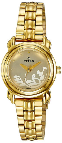 Titan Analog White Dial Women's Watch