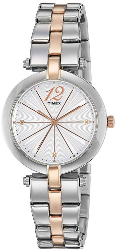 Timex Analog Silver Dial Women's Watch
