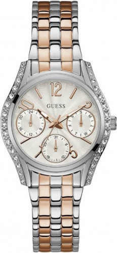 Guess Prima Analog White Dial Women's Watch