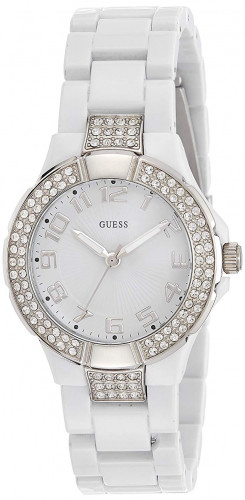 Guess Analog White Dial Women'sWatch