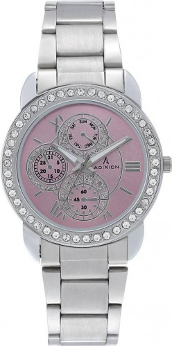 ADIXION 9743SM06 New Stainless Steel watch with Chronograph Pattern. Watch