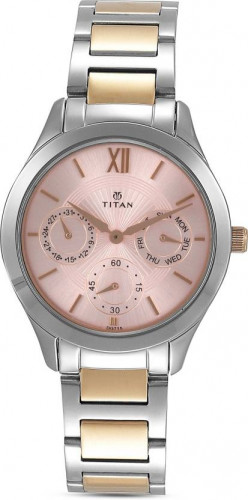 Titan Analog Rose Gold Dial Women's Watch