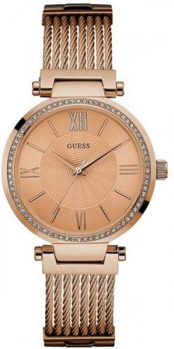 GUESS W0638L4 Analog Rose Gold Dial Women's Watch