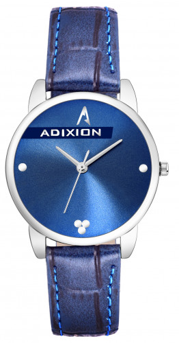 Adixion AD2608BL404 New Stainless Steel watch with Genuine Leather Strep