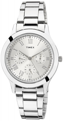 Timex TW000Q806 Analog Silver Dial Women's Watch