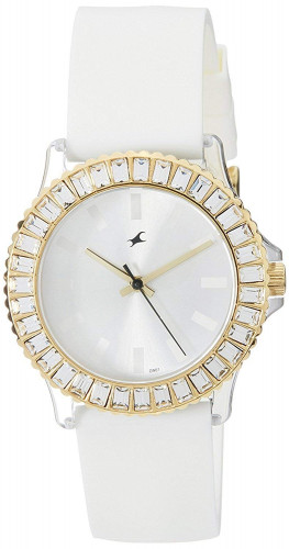 Fastrack 9827PP01 Hip Hop Analog White Dial Women's Watch