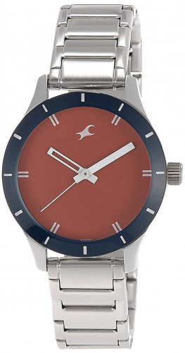 Fastrack Monochrome Analog Red Dial Women's Watch