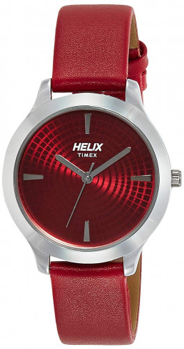 helix Analog Red Dial Women's Watch