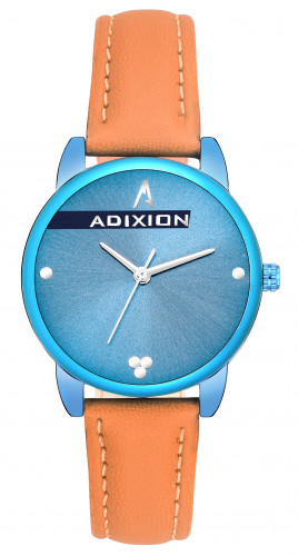 Adixion AD2608BL504 New Stainless Steel watch with Genuine Leather Strep