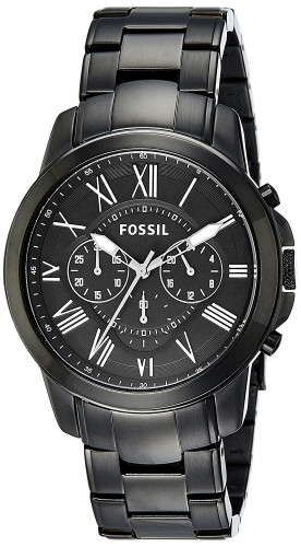 Fossil FS4832 Grant Chronograph Analog Black Dial Men's Watch