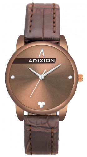 Adixion AD2608BL505  New Stainless Steel watch with Genuine Leather Strep.