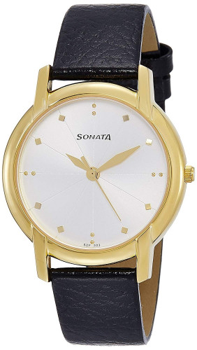 Sonata Analog White Dial Men's Watch (7954YL07)