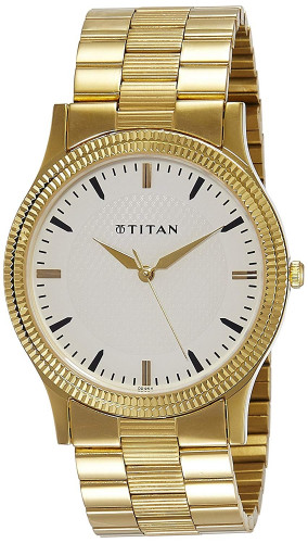 Titan Analog White Dial Men's Watch