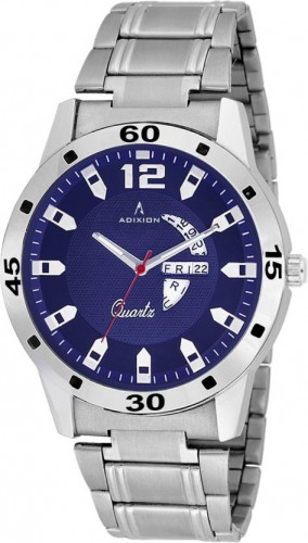 ADIXION 9519SMD4 Day and Date Stainless Steel Bracelet Watch Watch