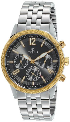 Titan Neo Analog Grey Dial Men's Watch