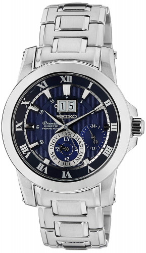 Seiko Premier Analog Blue Dial Men's Watch
