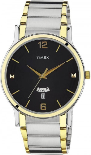 Timex TW000R425 Day and Date Analog Black Dial Men's Watch