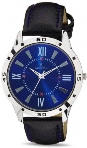 ADIXION 9519SLW004 New Stainless Steel watch with Genuine Leather Strep Watch