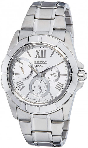 Seiko Chronograph White Dial Men's Watch
