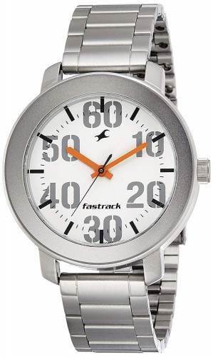 Fastrack Casual Analog White Dial Men's Watch