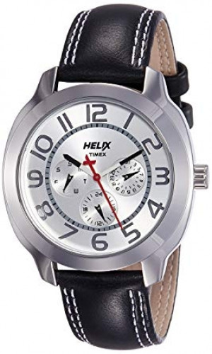 Helix Offshore Analog Silver Dial Men's Watch