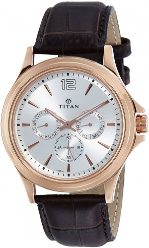 Titan 1698WL01 Neo Analog Silver Dial Men's Watch