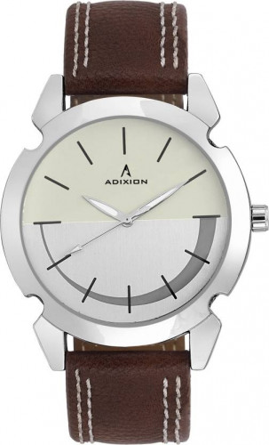 ADIXION 9520SLA3 New Stainless Steel watch with Genuine Leather Strep