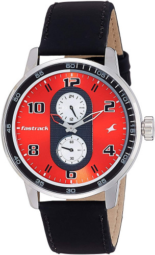Fastrack Analog Red Dial Men's Watch