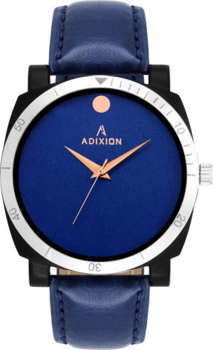 ADIXION 9534SL04 New Leather Strep Stainless Steel Youth Watch Watch