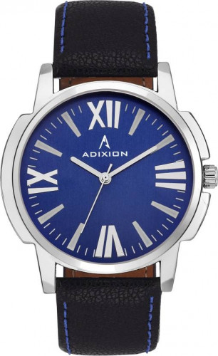 ADIXION 9502SLA4 New Stainless Steel watch with Genuine Leather Strep Watch
