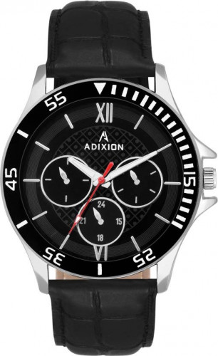 ADIXION 9532SL01 New Leather Strep Stainless Steel Youth Watch Watch