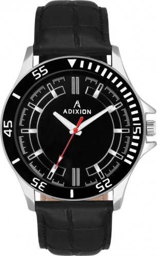 ADIXION 9532SLA1 New Leather Strep Stainless Steel Youth Watch Watch