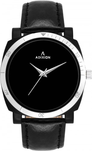 ADIXION 9534SL01 New Leather Strep Stainless Steel Youth Watch Watch
