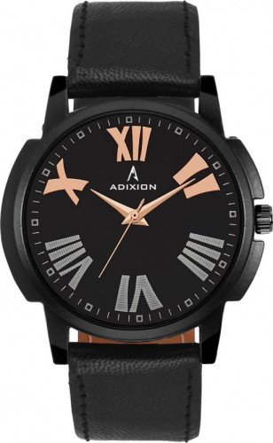 ADIXION 1015NLA1 New Stainless Steel watch with Genuine Leather Strep Watch