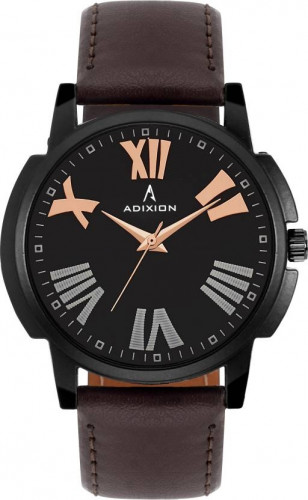 ADIXION 1015NLB1 New Stainless Steel watch with Genuine Leather Strep Watch