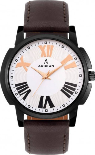 ADIXION 1015NLB2 New Stainless Steel watch with Genuine Leather Strep Watch