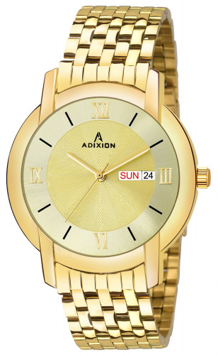 ADIXION  AD7954YM11 Golden  DAY & DATE  Stainless Steel Watch