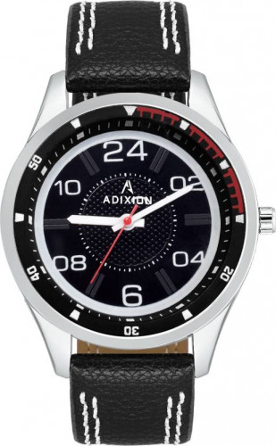 ADIXION 9533SL01 New Leather Strep Stainless Steel Youth Watch Watch