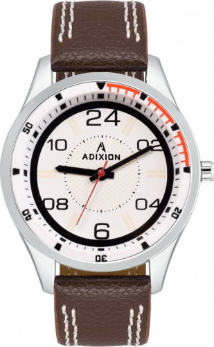 ADIXION 9533SL02 New Leather Strep Stainless Steel Youth Watch Watch