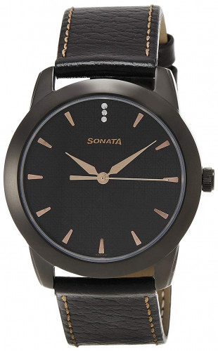 Sonata NK7924NL01 Analog Black Dial Men's Watch