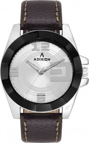 ADIXION 9534SLA3 New Leather Strep Stainless Steel Youth Watch Watch