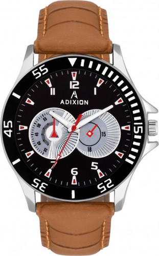 ADIXION AD9532SLB01 New Leather Strep Stainless Steel Youth Watch Watch