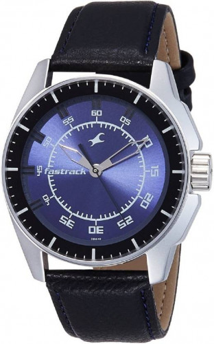Fastrack Black Magic Analog Blue Dial Men's Watch