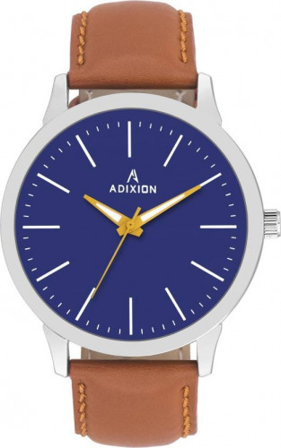 ADIXION BQ2311SM04 New Leather Strep Stainless Steel Youth Watch Watch